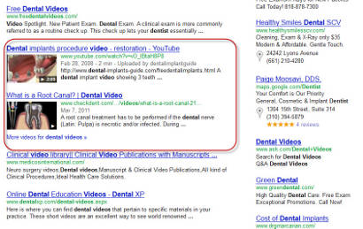 Search Results With Video Listings